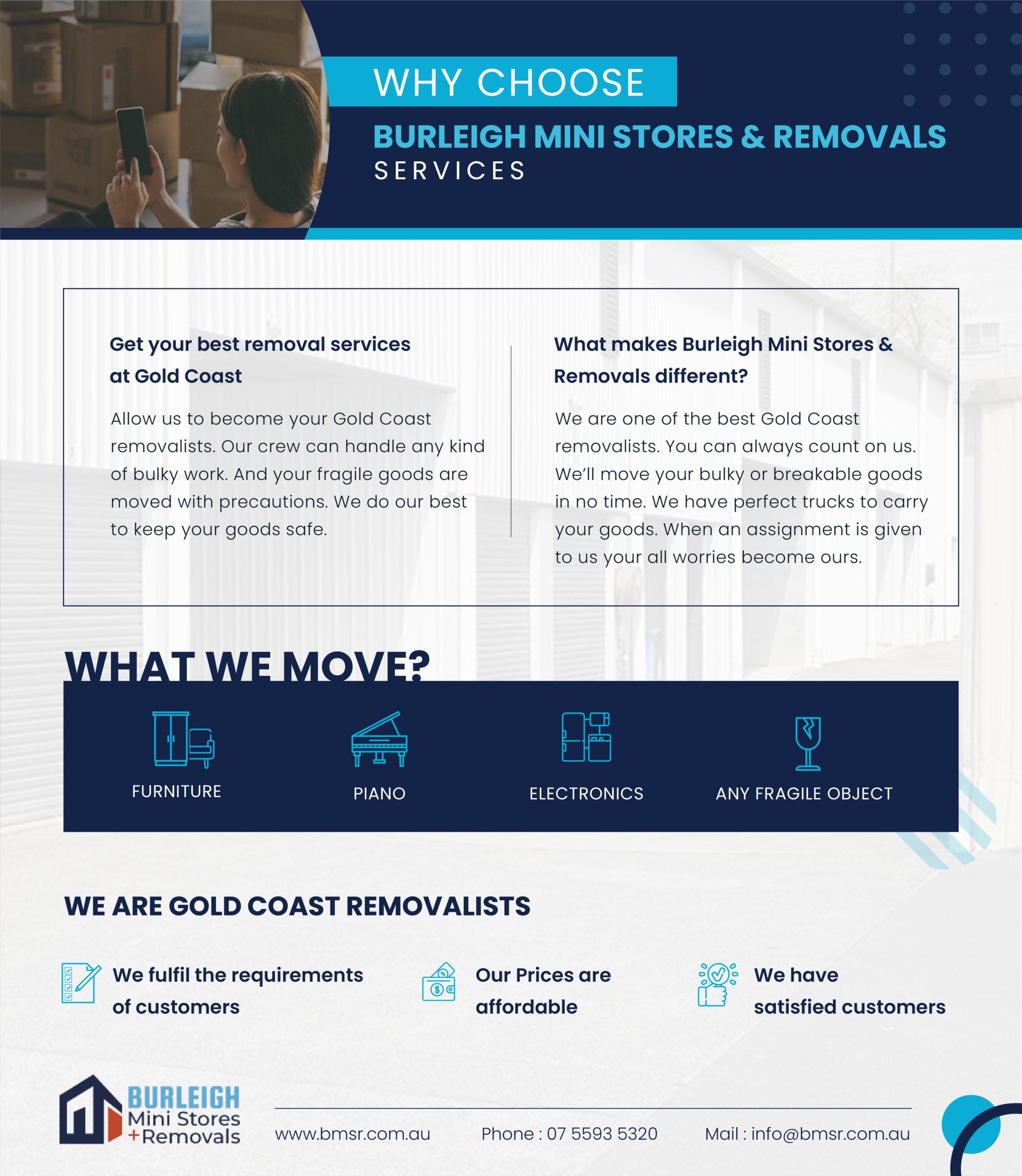 Burleigh Mini Stores & Removals storage